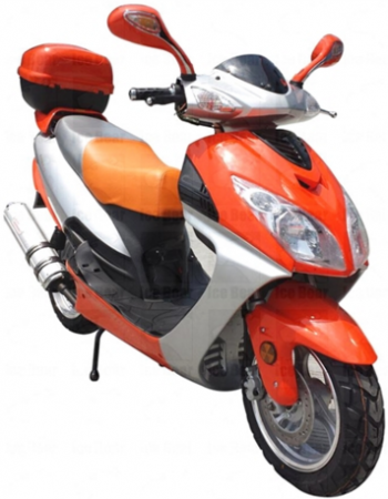 Icebear 150cc 3C Automatic Scooter Orange Silver