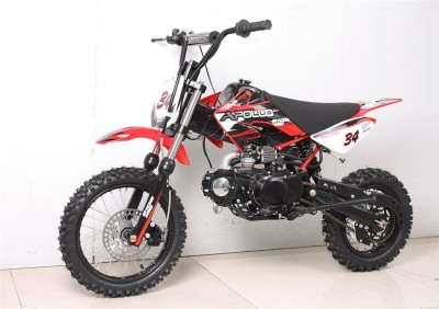 Apollo 110cc DB-34 4-Speed Semi-Auto Pit Dirt Bike Red