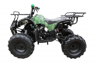 Coolster 125cc 3125XR8 Ultimate Mid Size ATV Camo Green Left Side