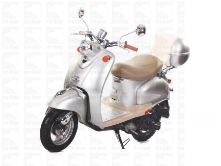 Icebear 50cc 5 Automatic Scooter Silver