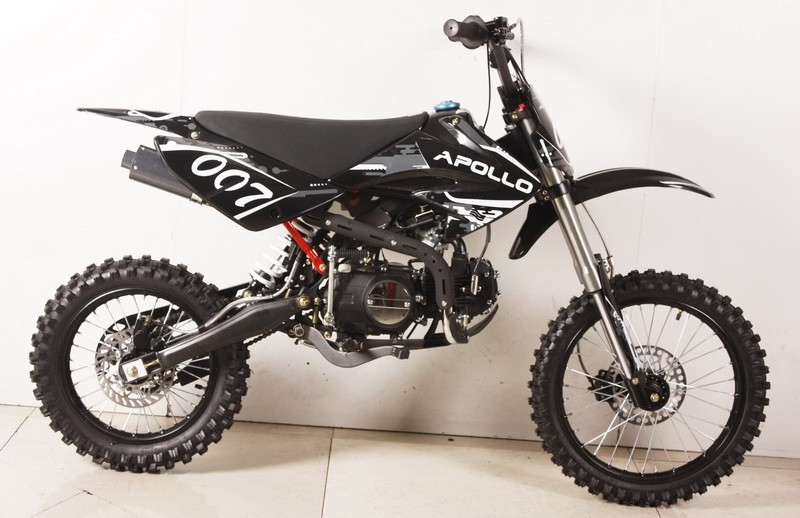 apollo 125cc db 99 4 speed manual pit dirt bike. Black Bedroom Furniture Sets. Home Design Ideas