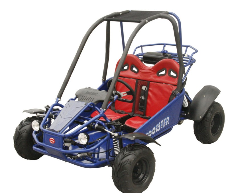 coolster 125cc 6125 automatic kids go kart front view blue