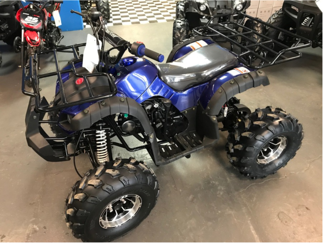 Coolster 125cc 3125XR8-U3 Mid Size ATV (3125XR8U WITH CHROME WHEELS)