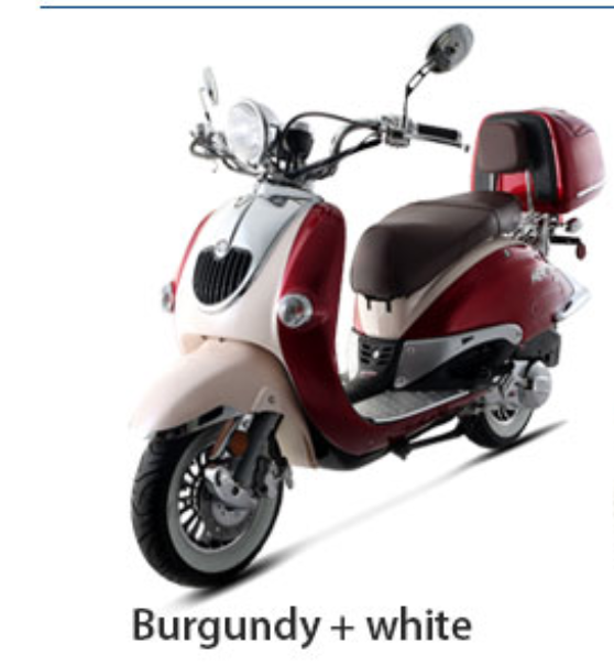 BMS 150cc Heritage 2-tone Premium Gas Scooter Moped (90% Assembled)