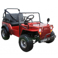 Coolster GK-6125A 125cc Jeep Go Kart with 3-speed Semi-automatic Transmission w/Reverse, Big 18'' Chrome Wheels, Red