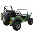 Coolster GK-6125A 125cc Jeep Go Kart with 3-speed Semi-automatic Transmission w/Reverse, Big 18'' Chrome Wheels, Green