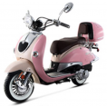 BMS 150cc Heritage 2-tone Premium Gas Scooter Moped Pink White