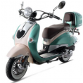 BMS 150cc Heritage 2-tone Premium Gas Scooter Moped Mint Green White