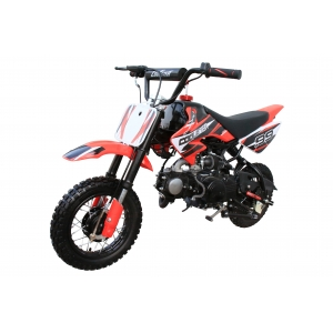 Coolster 70cc Mini-Pro Pit Dirt Bike orange left 45 degree