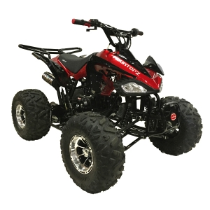Coolster 125cc 3125CX-3 Fully Automatic Mid Size ATV w/ Aluminum Wheels Red