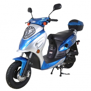 TaoTao 50cc EuroPlus Gas Scooter Moped Blue