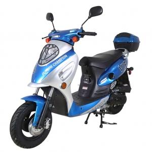 TaoTao 50cc EuroPlus Gas Scooter Moped Blue