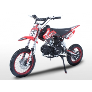 BMS PRO 125 125cc Racing Competition Pit Bike with Knobby Wheels red