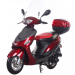 Icebear 50cc 4 Automatic Scooter Burgundy