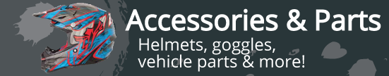 Accessories and Parts includes helmets, goggles vehicle parts and more